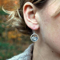 Unique Exotic Stylish Alloy With Circle Decor Women's Ladies' Girl's Earrings