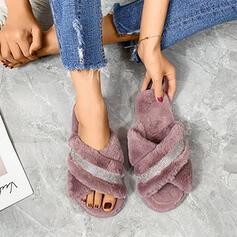 De mujer Ante Tacón plano Sandalias con Rhinestone Otros Color sólido zapatos