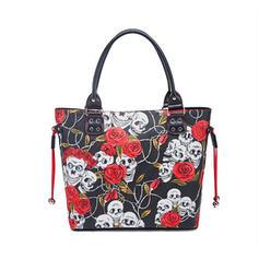 Floral/Halloween/Cráneo/Horripilante Bolsas de mano
