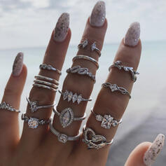 Con estilo Estilo de la vendimia Aleación con Diamantes de imitación Anillos (Juego de 15)
