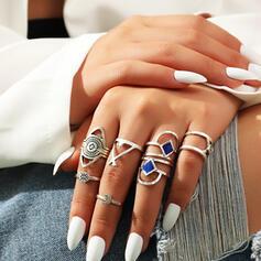 Classic Boho Alloy Women's Ladies' Rings 8 PCS