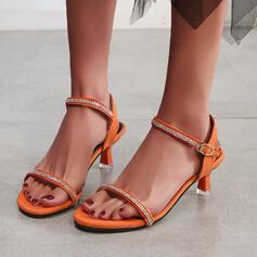 De mujer PU Tacón stilettos Salón con Crystal zapatos