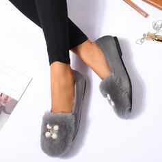 De mujer PU Tacón plano Planos con Cuentas Labor de retazos zapatos