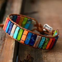 Colourful Boho Natural Stone Braided Rope Women's Bracelets