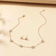 Shining Elegant Alloy With Rhinestone Women's Jewelry Sets 3 PCS