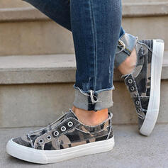 De mujer Tela Tacón plano Planos Alpargata con Labor de retazos Color de empalme zapatos