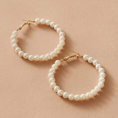Simple Alloy Imitation Pearls With Imitation Pearl Women's Earrings 2 PCS