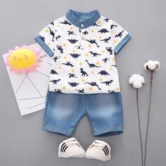 2-pieces Baby Boy Print Cotton Set