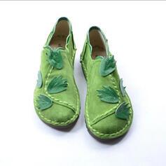 De mujer Cuero Tacón plano Planos Mocasines con Color sólido zapatos