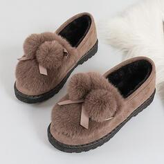De mujer Ante Tacón plano Planos con Agujereado Color sólido zapatos