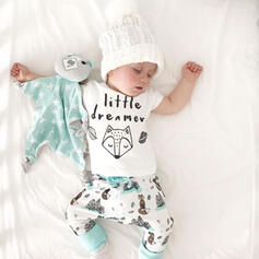2-pieces Baby Letter Print Cotton Set