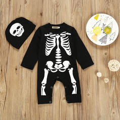 2-pieces Baby Skeleton Print Cotton Set