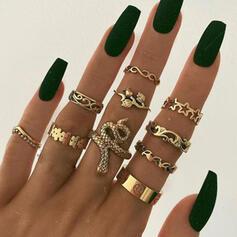 Snake Shaped Vintage Alloy Women's Ladies' Rings 10 PCS