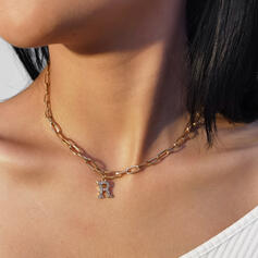 Fashionable Sexy Classic Cool Alloy With Rhinestone Women's Ladies' Necklaces 1 PC