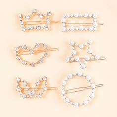 Unique Gorgeous Stylish Alloy With Heart Women's Ladies' Girl's Hair Accessories 6 PCS