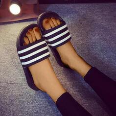 Women's PVC Flat Heel Sandals Peep Toe Slippers shoes