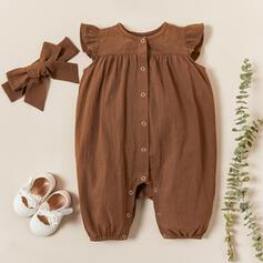 2-pieces Baby Floral Print Cotton One-piece