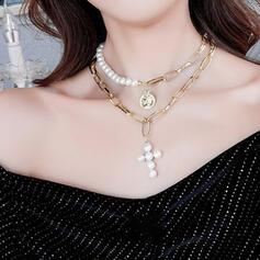 Unique Romantic Alloy Women's Ladies' Girl's Necklaces 2 PCS