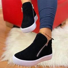 De mujer PU Tacón plano Planos con Cremallera zapatos