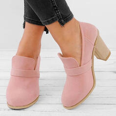 Women's PU Chunky Heel Boots Ankle Boots With Others Solid Color shoes