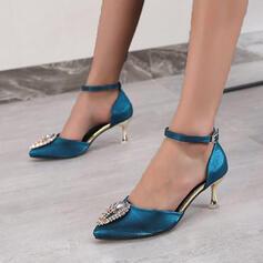 De mujer PU Tacón stilettos Salón con Cuentas zapatos