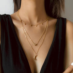 Unique Romantic Alloy With Gold Plated Women's Ladies' Girl's Necklaces 1 PC