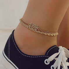 Fashionable Vintage Alloy Women's Ladies' Anklets 2 PCS