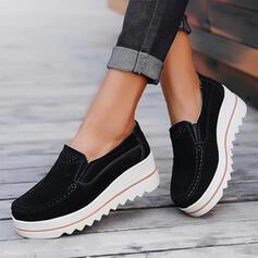 De mujer Ante Tacón plano Planos Mocasines con Color sólido zapatos