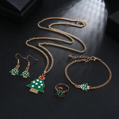 Lovely Christmas Tree Shaped Christmas Alloy Women's Ladies' Jewelry Sets 5 PCS