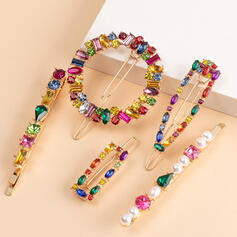 Unique Stylish Alloy With Imitation Crystal Women's Ladies' Girl's Hair Accessories 5 PCS