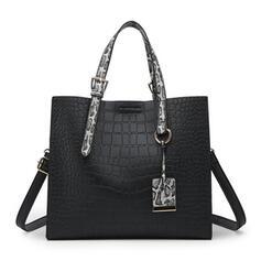 Elegant/Alligator Pattern/Commuting/Splice Color/Bohemian Style/Crocodile Embossed Crossbody Bags/Shoulder Bags/Hobo Bags/Top Handle Bags