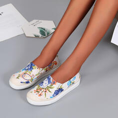 De mujer Tacón plano Planos Alpargata con Flor zapatos