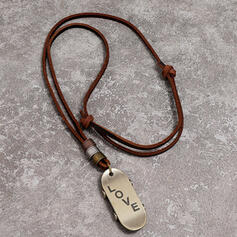 Unique Romantic Alloy Cow Leather Women's Ladies' Men's Unisex Necklaces