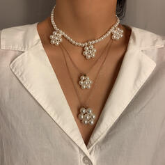 Nice Stylish Delicate Alloy Imitation Pearls With Pearls Women's Ladies' Girl's Necklaces 2 PCS