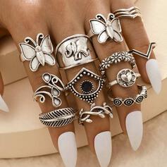 Exotic Boho Alloy Women's Ladies' Rings (Set of 14)
