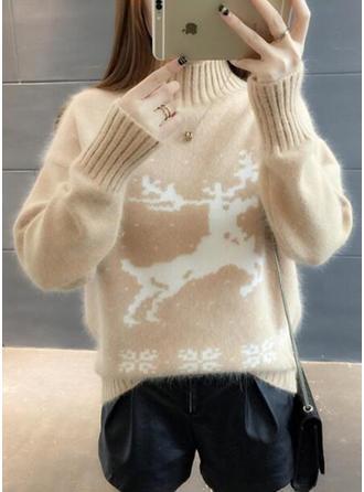 Animal Print Turtleneck Christmas Sweaters