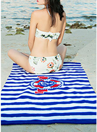 A rayas/Retro /Vendimia/Geométrico Cómodo/Multifuncional/Libre de arena/Secado rápido toalla de playa