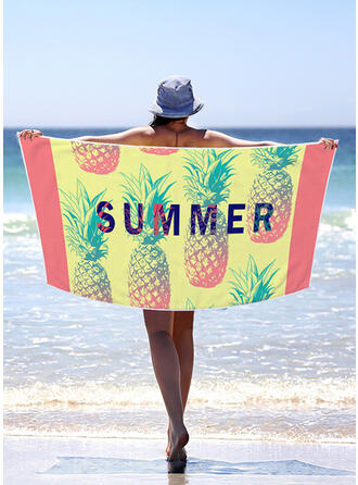 Bloque de color/Bohemia/Hojas/Colorido Ligero/Multifuncional/Libre de arena/Secado rápido toalla de playa