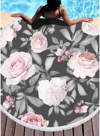 Floral atractivo toalla de playa