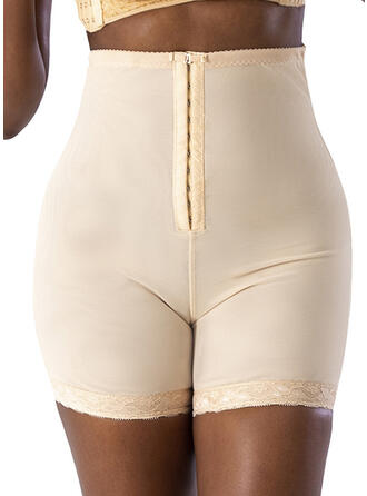 Spandex Chinlon Lace Plain Plus Size Shapewear