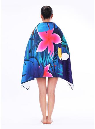Floral/Retro /Vendimia/Bohemia/Hojas/Huella animal moda/Multifuncional/Libre de arena/Secado rápido toalla de playa