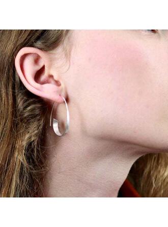 Classic Simple Alloy Women's Earrings