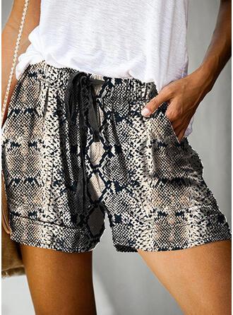 Print Above Knee Casual Pants