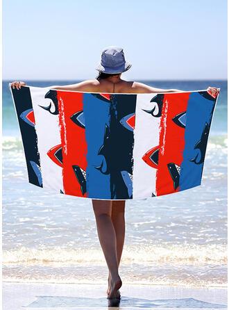 Bloque de color/Bohemia/Colorido Ligero/Multifuncional/Libre de arena/Secado rápido toalla de playa