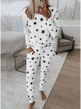 Print Casual Sporty Stretchy Suits