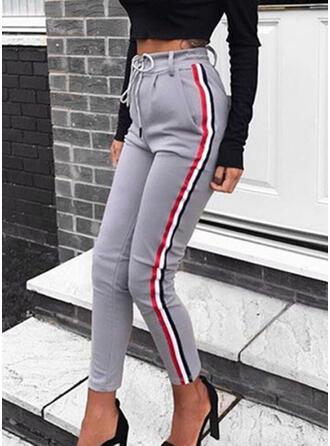 Talla extra Cordón Recortada Casual Sexy Deportivo Pantalones