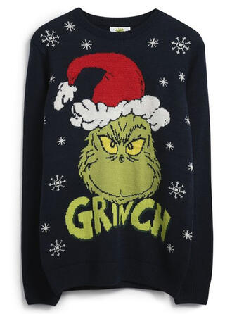 Unisex Polyester Print Letter Ugly Christmas Sweater