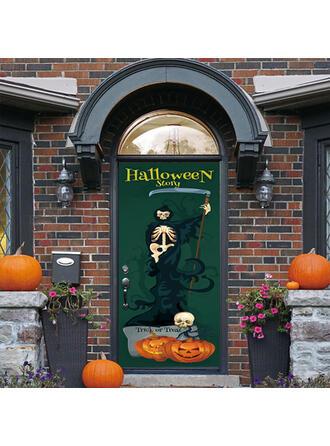 gótico Halloween Fantasma Truco o trato PVC Decoraciones De Halloween Signo de porche