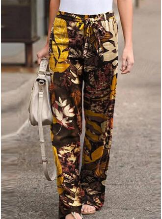 Impresión Talla extra Cordón Largo Casual Tribal Pantalones
