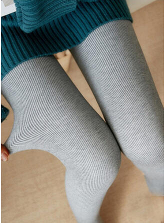 Solid Casual Plain Stretchy Leggings